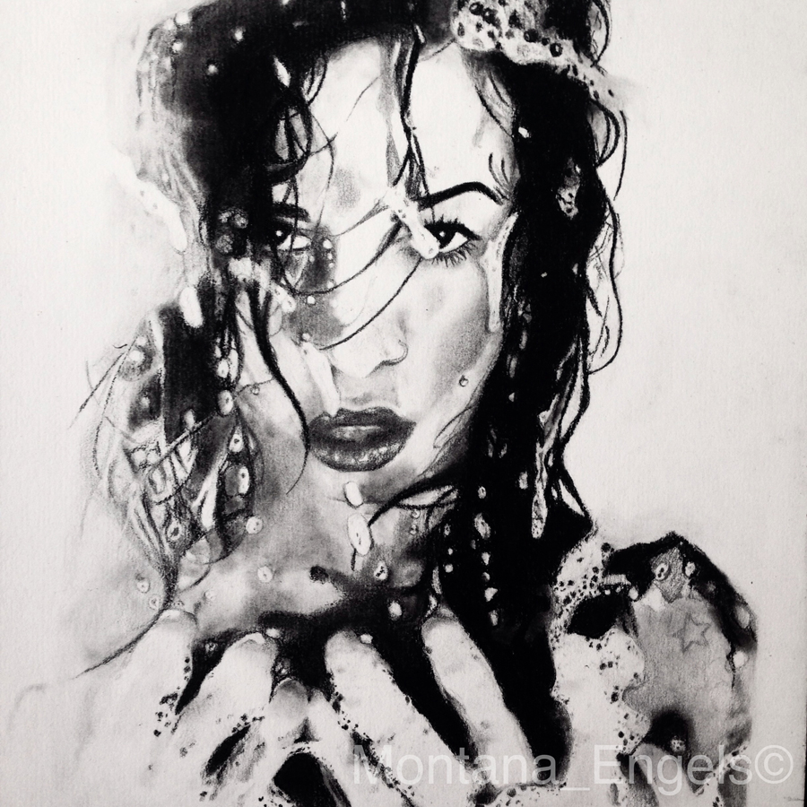 montana engels artist drawing fierce