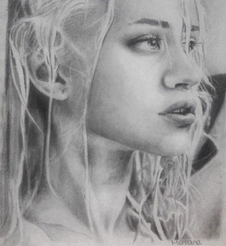 montana engels artist drawing Katie Loo model