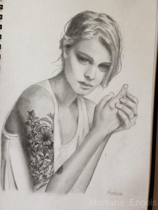 montana engels artist drawing pierced eyes