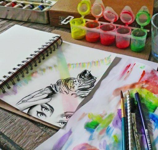 montana engels artist drawing rainbow reflection