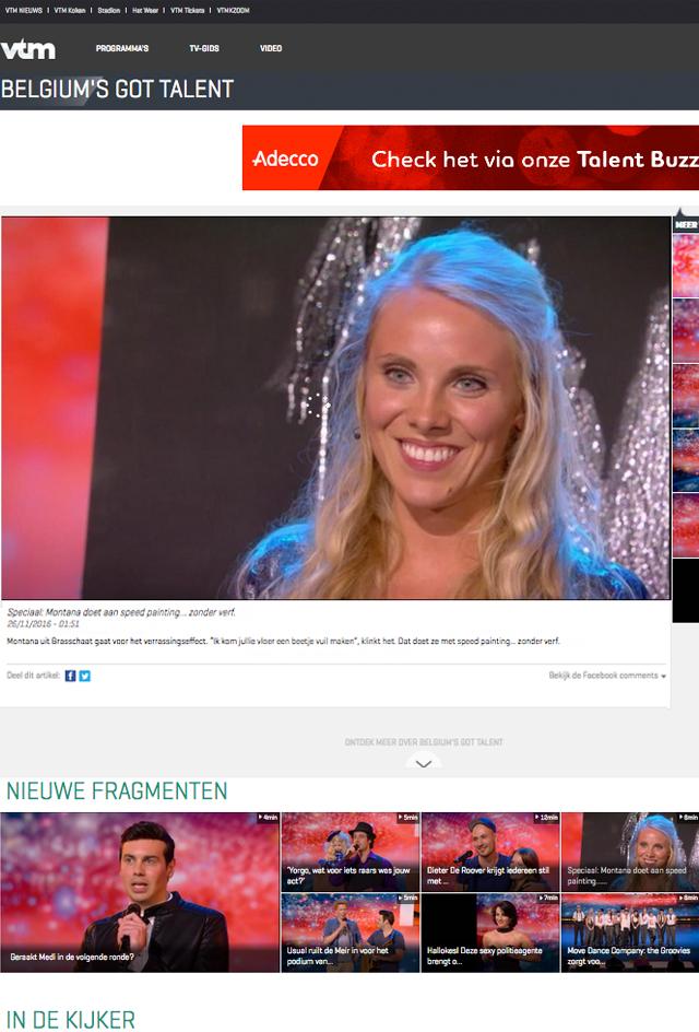 vtm bgt belgiums got talent nieuws montana engels speedpainting