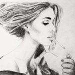 Montana Engels artist drawing Parisienne