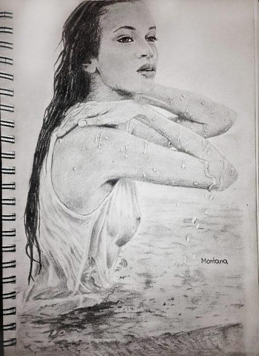 Montana Engels artist drawing dry water