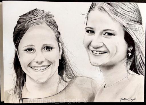 Montana Engels artist drawing Celine en Axelle