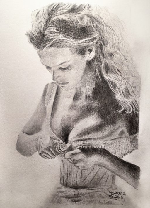 Montana Engels artist drawing undress me with your eyes