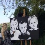 Montana-Engels-speedpainting-familiefeest-bedrijfsfeest-event-act-verf-snel-schilderen