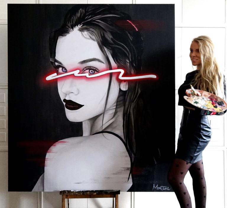 Montana-engels-painting-schilder-portret-antwerpen-belgie-neon-Red-FINISHED