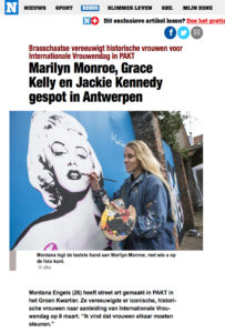 het-nieuwsblad-Montana-Engels-streetart-internationale-vrouwendag-lolaliza-Antwerpen