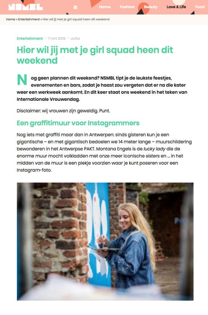 nsmbl.be-pers-Montana-Engels-streetart-Antwerpen-internationale-vrouwendag