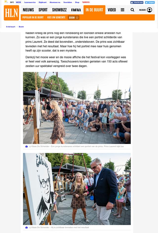 Het-laatste-nieuws-hln-Montana-Engels-speedpainting-prins-van-Belgie-prins-laurent-live-schilderij-TAW