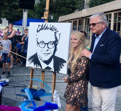 Montana-Engels-prince-Laurent-of-Belgium-speed-painting-event-performance-portrait-act