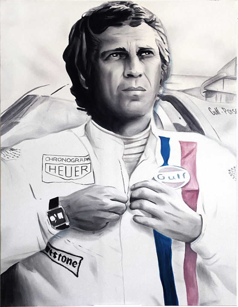 Montana Engels painting Art for Charity Steve-Mcqueen-FINAL