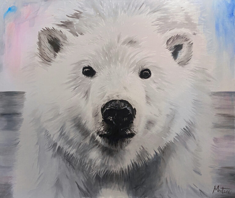 montana-engels-icebear-animal-painting-belgian-painter-portrait